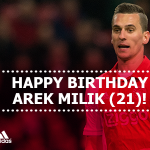Vandaag is #Ajax-aanvaller @arekmilik9 21 jaar geworden. Gefeliciteerd Arek!