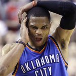 Video: Russell Westbrook to be evaluated after taking knee to face (via @BenGolliver) http://t.co/rrKYPZDyPy http://t.co/THhzLwS5Tb