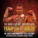 Today is the day - Get it done @RealCFrampton ..... @ClonesCyclone .Live on @ITV tonight but even Liver in Belfast . http://t.co/HGXbsMZkFp