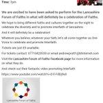 We cant wait for this on wednesday @LancsFaiths #celebratefaith #Preston #lancashire http://t.co/TxZSQP6bDc http://t.co/tKJe6TtZ0y