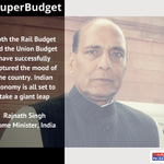 Indian economy is all set to take a giant leap: Home Minister Rajnath Singh on #SuperBudget 2015 http://t.co/y1KT49Atrb