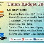 Key features of #UnionBudget2015- Achievements #बजट2015 #Budget2015 #SabkaBudget http://t.co/kC65ZTx5Bx