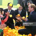 The Duke of Cambridge demonstrated his juggling prowess in a ball pit in Koriyama this afternoon #RoyalVisitJP http://t.co/JXFWrnJNt3