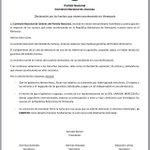 Declaración de la Comisión Nacíonal de Jóvenes debido a los acontecimientos en La República Bolivariana de Venezuela http://t.co/O86O2O3zyF