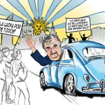 """#CaricaturateleSUR   El mundo entero agradece legado ideológico y social del gran """"Pepe"""" Mujica #GraciasPepe #Uruguay http://t.co/igFeoKwKKH"""