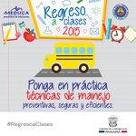 El lunes es el #RegresoaClases, a manejar con cuidado y mucha prudencia: niños en la vía. http://t.co/eT2IoHPazB