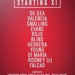 United XI: De Gea, Valencia, Smalling, Evans, Rojo, Blind, Herrera, Young, Di Maria, Rooney, Falcao. #mufclive http://t.co/1wPM9e1IX5