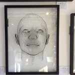 The 1st figurative cut up @ArtistAnon_ shop framed by the fantastic @nakedeyegallery #brighton #art #paper http://t.co/H4i3GlwX17
