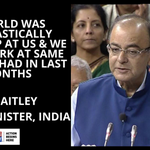 The world was looking up at us and we had to work at same pace as we had in last 10 months: Jaitley #SuperBudget http://t.co/hj0IuXyGJB