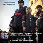 Mañana a las 12h concierto en el López de Ayala de la @amcristorey y la BCCTT @ColumnaAzotes de Sevilla. http://t.co/RQ31CGyiKA