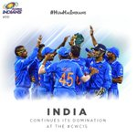 Make it 6 points from 3 games for the Champions! #CWC15 #INDvUAE #HumHaiIndians http://t.co/dMMDRAqFjq
