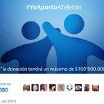 Lo logramos! Gracias a tus RTs llegamos nuestra meta en Twitter de $100 millones para @teletoncolombia. http://t.co/c65dcojiEh