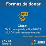 Vamos Colombia con un solo mensaje puedes unirte a esta buena causa #MirateColombia http://t.co/b5vts5DeNf