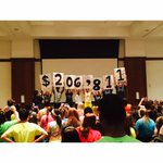 We did it! University of Memphis Up til Dawn has raised $206,811 for the kids of @StJude! #UTDFinale http://t.co/3FL7yFL4O5