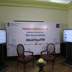 #AskYourFM questions on #Budget2015. Shri @arunjaitley will answer them on #Talkathon at 6pm: https://t.co/Ln2uHCiS1G http://t.co/3Sk7NzTnZ0