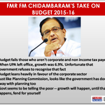 Highlights of former Finance Minister P Chidambarams take on #SuperBudget 2015 http://t.co/wPhybSvhin