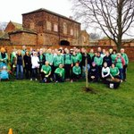 .@StTheresasAC did #mikesellars proud this morning at his tree planting before the #parkrun. #leeds #RIPlegend http://t.co/KS7vnpRFyn