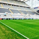 Got the cracker today Newcastle United v Aston Villa the pitch is looking good #kammyselfie http://t.co/A4Tp7QrV6I