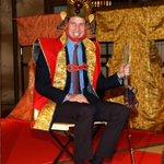 .@UKAmbTim soon got his own back when The Duke of Cambridge dressed as a Samurai King at NHK studios #RoyalVisitJP http://t.co/18L5GYobih