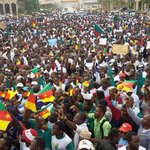 Thousands at #MarchForOurTroops in #Cameroon today. In #Nigeria whilst some in #Abuja in #Lagos turnout very low. http://t.co/G1E6PnIDGx