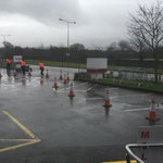 The scene outside the Labour conference. No protesters yet but theyre on their way, we hear #lp15 http://t.co/Z73eGN1RGA