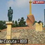 Hoy, 28 de febrero, se celebra la #BatallaDeCúcuta, día en que los cucuteños quedaron liberados del yugo español. http://t.co/myj9LsMlSE