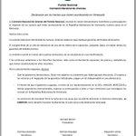 Declaración Comisión Nacional de Jóvenes sobre los sucesos en la República Bolivariana de Venezuela @jovenesblancos http://t.co/mSLkAnHjT5