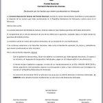 Declaración de la Comisión Nacional de Jóvenes del @PNACIONAL por los hechos que vienen aconteciendo en #Venezuela http://t.co/fHtv942Lf8