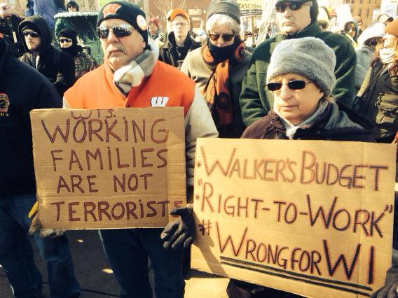 Truth and truth. Walker's budget, #righttowork #wrongforWI #wiunion #stoprtw http://t.co/MdB02Gqiy4
