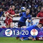 #XVdeFrance Fin de match: défaite des Bleus 13 à 20 face au Pays de Galles #FRAGAL #soutienslexv http://t.co/ZYrhgPcwwB