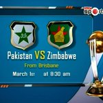 Pakistan will face Zimbabwe on Sunday in #CWC15. PTV sports will telecast the match live from 8.30 am #PAKvZIM http://t.co/GB7I8NpKLQ