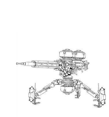 ビッグガン:リビング・デッド師団が運用する長距離狙撃ビーム砲。外見はMSサイズの三脚固定銃座であり、運用もMSを介して行