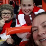 @CTFCofficial Master Bains 2nd match,what better day to bring him with @ambeaver10 #chelfie #allinittogether http://t.co/yqxXn8JjNI