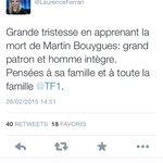 Comment tweeter + vite que son ombre... Merci à l@AFP et à @LaurenceFerrari #MartinBouygues #IlEstMortMaisEnFaitNon http://t.co/KWTCmnk95x