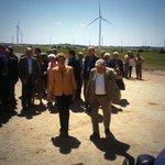 Mujica y @dilmabr llegaron a parque eólico que construyeron UTE y Eletrobras: 31 aerogeneradores con potencia 65.1 MW http://t.co/q2BdSEKgGV