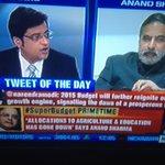 Tks @INCIndia Sir Anand Sharma hammered #ArnabGoswami s #SuperBudget propaganda @TimesNow & challenged #Arnab f http://t.co/zTR8TfnEQd
