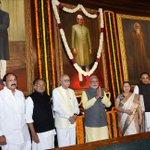 Dr @Swamy39 ,LK Advaniji, @narendramodi &others in Parliament House during Morarjibhai Desai Birth Anniversary Day http://t.co/3Aq8ckyzJR