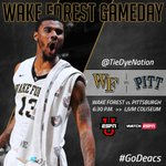 Its Gameday! The Deacons host Pittsburgh at 6:30 p.m. on @ESPNU and WatchESPN. #GoDeacs http://t.co/YCTTweSZAN