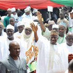 President Jonathan at the Solidarity & Endorsement Rally by Arewa in Southern Nigeria in Asaba, Sat. #ForwardMarch http://t.co/1eeLKa0w4r