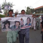 Dr.Aaifa featured prominently at PTI dharna in Karachi by Civil Society. #FreeDrAfia http://t.co/JOZuFyEFOD