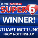 WE HAVE A WINNER!  Stuart pocketed the £250k jackpot thanks @swfcs 2-0 win over Boro, which just 1% of you predicted http://t.co/tkBqTbFkE8