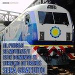 """Como ya no les alcanza con arrear focas aplaudidoras en bondis, para el #1M, @CFKArgentina pone los trenes """"gratis"""". http://t.co/Q4Uc9aA5B3"""