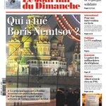 La une du #JDD. Qui a tué Boris Nemtsov? Récit dun pilote de drone ; Syrie ; départementales ; ITV Albert de Monaco http://t.co/WrHldyxVur