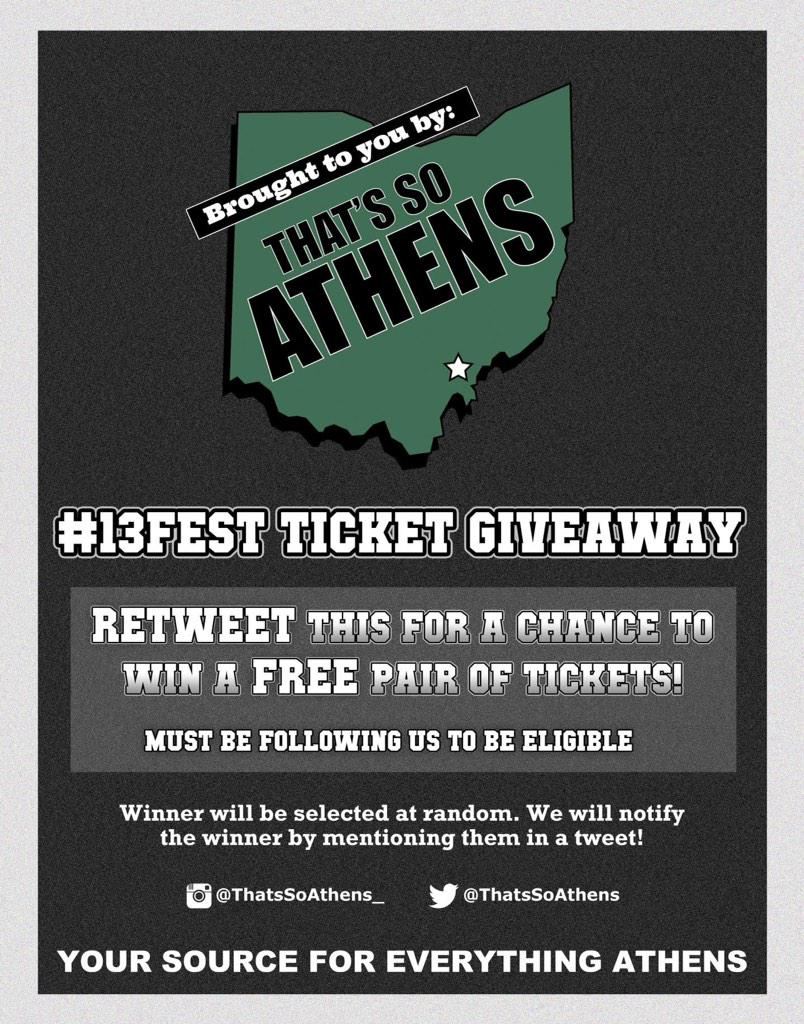 #13FEST TICKET GIVEAWAY  We're giving away tix to the best college party ever!  RETWEET now for a chance to win big! http://t.co/WuhkMXLszU