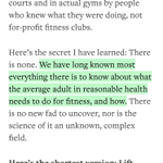 """RT @mcaers: The best advice ever!""""@Medium: """"What I learned about how the fitness industry lies"""" —@zeynep https://t.co/fmA36Bo5aa"""