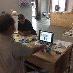 Testing #prototype interaction w #Miami Jammers. #GSJam #designthinking http://t.co/cRn4Gs07AV