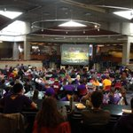 #10 UNI down 26-38 at the break, but we have #PurpleFaithful here in the Union to watch the comeback! http://t.co/NYJmqwy9QG