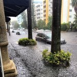 Right now at #MiamiBeach reported by radio station #Hits97.3 #Floods #flooding http://t.co/7Yr5eQcsuy