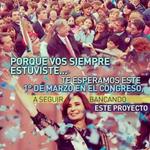 #1MTodosConCristina Todos al Congreso. Porque vos siempre estuviste: ¡te convoco! http://t.co/piuYl8GWZT
