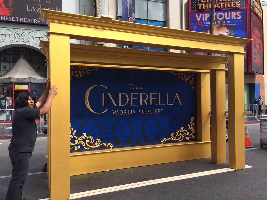 Preparing for tomorrow's @Disney #Cinderella World Premiere at #elcapitantheatre presented by @HSN & @jcpenney http://t.co/DFw52qljFz